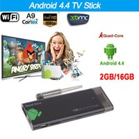 dlan wifi al por mayor-Bluetooth 4.0 1080P CX919 Android 4.4 Stick de TV Quad Core 2G / 16G con XBMC DLAN externa Antena WiFi Mini PC caja de TV Dongle V1109