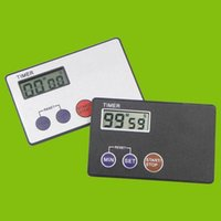 Wholesale Timer Countdown Pocket Kitchen Study Rest Kitchen Cooking Credit Card Size
