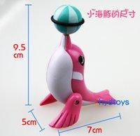 ball acrobatics - Fun clockwork small dolphins on the chain toys walk acrobatics head the ball rotate degrees novelty toys