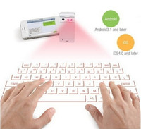 Wholesale Bluetooth Laser Projection Virtual Keyboard Wireless Keyboard Updated for Android IOS Tablet PC iPad G GS XMAS Gift