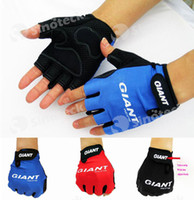 finger bike - Giant Half Finger Men Cycling Gloves Mitts Mitten Bicycle Bike Riding Driving Cycling Racing Guantes Ciclismo Free DHL Factory Direct