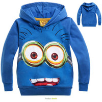 Wholesale Hot Cotton Designs Children Long Sleeve Minions Hoodies Despicable Me Moi moche et méchant Sweatshirts Brand Cartoon Kids Sweater