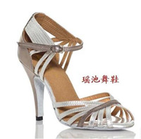 Wholesale Women Latin dancing shoes silver gb companionship high dancing with soft bottom shoes