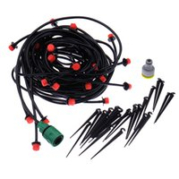 Wholesale 20m DIY Micro Drip Irrigation System Plant Automatic Self Watering Garden Hose Kits with Connector x Adjustable Dripper LW312