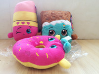 apple plush toy - Shopping basket Shopping Plus Toys Kookie Cookie Strawberry Kiss Apple Mini Muffin doughnut lipsticks Stuffed Plush doll Toy ZJ1013