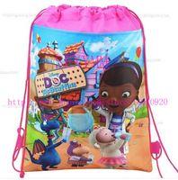 Wholesale Doc Mcstuffins Clinic shoe bag shoe pouch gift bag drawstring bag schoolbag shoulder bag