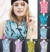 Wholesale Fashion Mustache Beard Print Chevron Wave Print Scarf Infinity Scarves Ladies Scarves Voile Multi color printing women scarf AAA