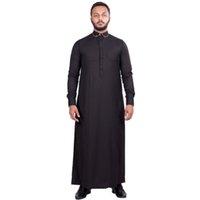 Wholesale AL FAIZAN Official Authorized Ramadan Collection Men s Business Penny Neck Black Brown Tunic Robe Kurta Thobe