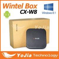 quad core cpu - Original Wintel W8 Mini PC Box with windows8 Android4 Dual OS Intel Quad Core GHz CPU G RAM G Storage with Bluetooth
