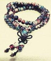 Wholesale jewelry ceramics Bangles fashion Chinese style chinoiserie bracelet hand made beaded strands