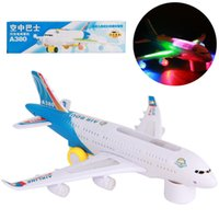 Wholesale A380 air bus electric universal music lighting toy