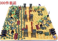 Wholesale 2015 Set World War II Simulation Battlefield Figures with Weapon Guns Plastic Figure Soldiers Toys for Boys