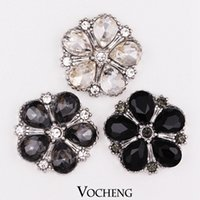 Wholesale 18mm Vocheng Noosa Snap Colors Ginger Snap Interchangeable Popper Jewelry Accessory Crystal Button Jewelry Vn