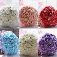 Cheap Chiffon bridal wedding bouquets 2015 Best Capped Short Sleeve handmade flowers rose accessories