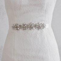 beading jewelry designer - S239 New Arrival Diamond Beading Belts Elegant Bridal Dress Sash cm Ribbon Designer Belts Exquisite jewelry