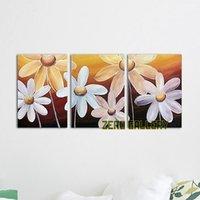 Wholesale Promote handmade blossom pop art lily orchid tulip cherry oil painting pictures of flowers imágenes de la pared superhero
