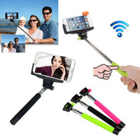 Wholesale Selfie Sticks Bluetooth Selfie Monopod Bluetooth Selfie Monopods Selfie Stick Bluetooth Remote Shutter Clip Z07 For iPhone Samsung DHL