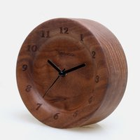 antique walnut table - High Quality Black Walnut Material Vintage Clock Novetly Antique Table Clocks For Study Room Home Decor Gadgets Cool Things Wood