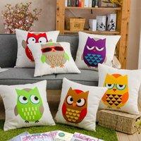 beauty furniture - Latest Design OWL Pillow Cover Cargo Furniture Pillowcase Covers CCO Beauty popular Home Garden Home Textile Pillow Case