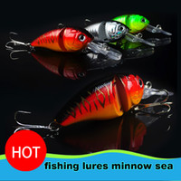 Wholesale 14G CM Fishing Lures Minnow Crank Bait Crankbait Bass Tackle Treble Hook bait wobblers fishing japan