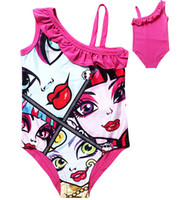 Wholesale Monster High Baby Girl Swim Wear Summer Girls Clothes Children s Clothing Cute Swimsuit for Girls One Piece