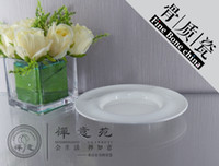 Wholesale 8 quot Polaroid Round Shallow Plate fine bone china Durable Unusual hotel Restaurant Dinner Plate Porcelain ceramics Unique Design For Sale