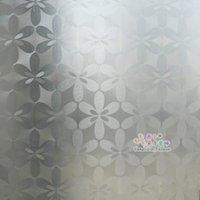 bathroom window film - Glass film bathroom window stickers waterproof explosion proof translucidus transparent flower cm cm