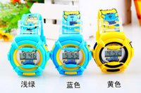 Wholesale 2014 hot children kids Despicable Me watch the Minion leather watch Wristwatches free ship