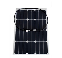 Wholesale 30w flexible solar panel factory price W surge output A grade monocrystalline solar cell