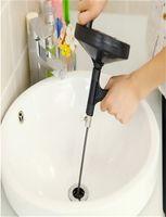 Wholesale On Sale Creative Black Submachine Gun Design Drain Pipe Cleaner Handle Manual Gun Toilet Dredges Plunger Tool