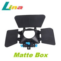 Wholesale DSLR Movie Kit Matte Box For mm Rail Rod Support System Video Cameras D D MARK II D D D90