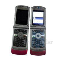 t back - V3 Quadband Refurbished Original Razr AT T T Mobile Unlocked Cell Phone Hot sale DHL FREESHIPPING