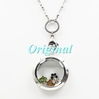 Cheap 30mm Water Proof 316L stainless steel twist off floating charm locket living locket with prism glass