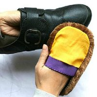Wholesale 5 X Soft Wool Polishing Shoes Clean Cleaning Gloves Shoe Care Brush Home