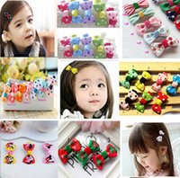 Wholesale Baby Girl Grosgrain Ribbon Hair Bows Children Hair Accessories Baby Hairbows Girl Hair bows with clips barrettes HW