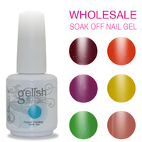 Wholesale 100pcs top quality Soak off color DOMCCO Gelish led uv gel nail polish Gelish gel nail art gel lacquer varnish