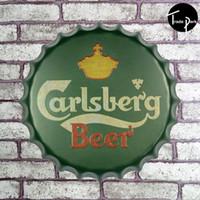 Cheap 40cm Round C beer Sign Bar pub home Wall Decor Retro Metal Art Poster