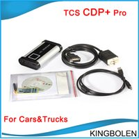 Wholesale Newest TCS CDP pro with delphi software free keyegn CDP Plus pro for Trucks cars Diagnostic tool DHL
