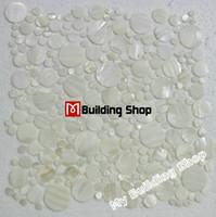 mosaic tile - Mother of pearl tile kitchen backsplash shell mosaic MOP027 white pebble mosaic tile mother of pearl tiles
