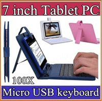 Cheap 100X Optional Universal keyboard Micro USB Flip Protective Cover Tablet Leather Case For HP Slate 7 7inch Case 1-JP