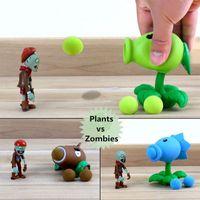 Wholesale Sample Order Plants vs Zombies Peashooter cm PVC Action Figure Model Kids Toys Christmas Gift For Children S30270