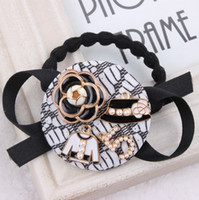 baby rubber ring - Xayakids Hairpin A small circle on behalf of Han Guoyuan buckle real pearl ring head Rose Hair Band Baby Headband