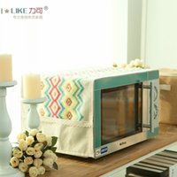 Wholesale NEW Drape Dust Covers microwave oven refrigerator coffee table Gaibu Bu Yi cotton embroidery American country