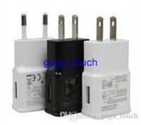 Wholesale 5V A Wall Charger EU US Plug AC Power Home Travel Charging Adapter for Samsung Galaxy S4 S5 i9600 S3 i9300 Note2 N7100 Universal pc