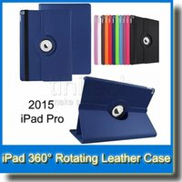 Wholesale 360 Rotating Leather Case for Apple iPad Pro inch Stand Holder Cover iPad Mini4 Mini Colorful