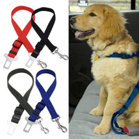 Chirstmas car seat belt belts - Hot Selling Adjustable Practical Dog Pet Car Safety Leash Seat Belt Harness Restraint Collar Leads Travel Clip Y52 MPJ194 M5