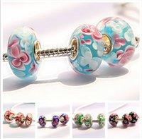 Wholesale DIY big hole glass beads Pandora charm bracelet accessories sale Loose beads Fashion jewelry cheap jewelry accessories DB