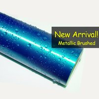 Wholesale 2015 new product m car wrapping vinyl chrome brushed vinyl film Blue with air drain color available