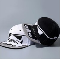 Wholesale New Embroidery Fashion Brand Star Wars Snapback Caps Cool Strapback Letter Baseball Cap Hip hop Hats For Men Women