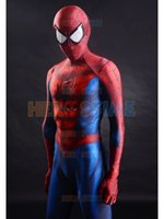authentic kids costume - Authentic Classic Spiderman Costume D Printed Lycra Spandex Zentai Spider man Bodysuit for Halloween with